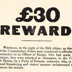 Irish Constabulary reward poster for poteen seizure